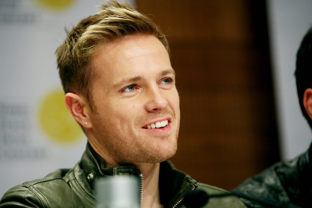 Oslo 20091211. Nicky Byrne from Westlife at the press conference before the 2009 Nobel Peace Prize concert in Oslo on Friday afternoon. Foto: Jon-Michael Josefsen / SCANPIX / kod 20520